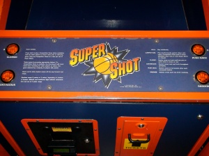 Base of the Skee Ball Super Shot machine